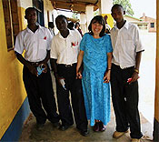 Dr Susan Wilson and the Secondary School Boys